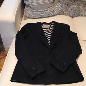 Banana Republic - Black cotton stretch blazer - 10
